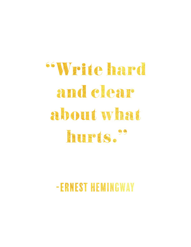 write-about-what-hurts